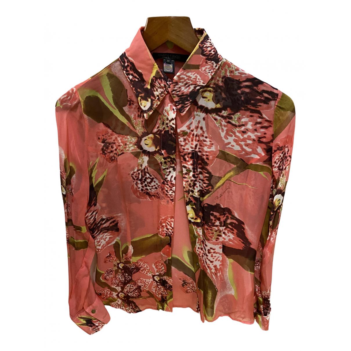 Roberto Cavalli \N Orange Silk  top for Women M International