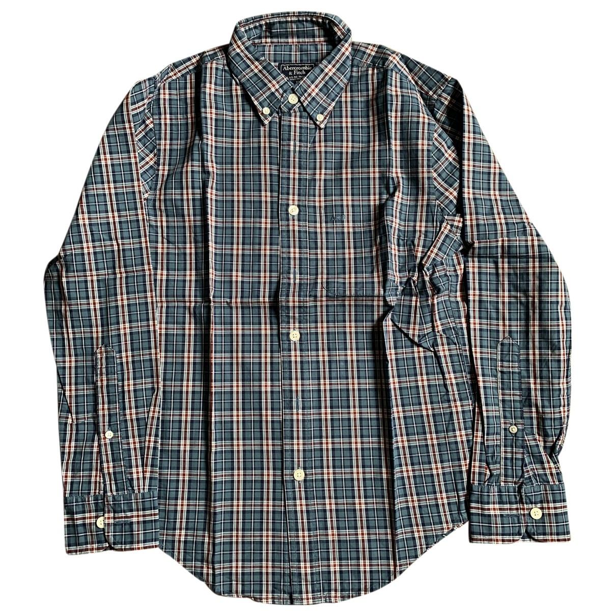 Abercrombie & Fitch - Chemises   pour homme en coton - vert