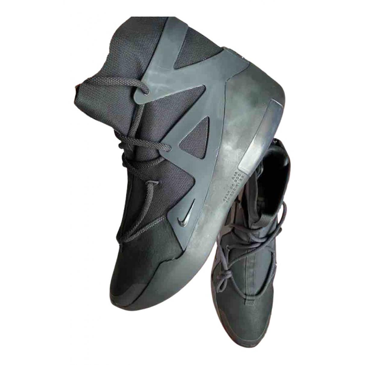 Nike X Fear Of God - Baskets   pour homme en caoutchouc - noir