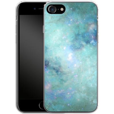 Apple iPhone 8 Silikon Handyhuelle - Abstract Galaxy - Light Blue von Barruf