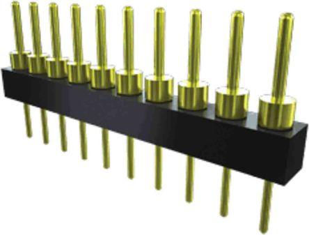 Samtec , TS, 12 Way, 1 Row, Straight PCB Header (19)