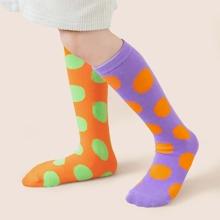 Kleinkind Maedchen Socken mit Punkten Muster