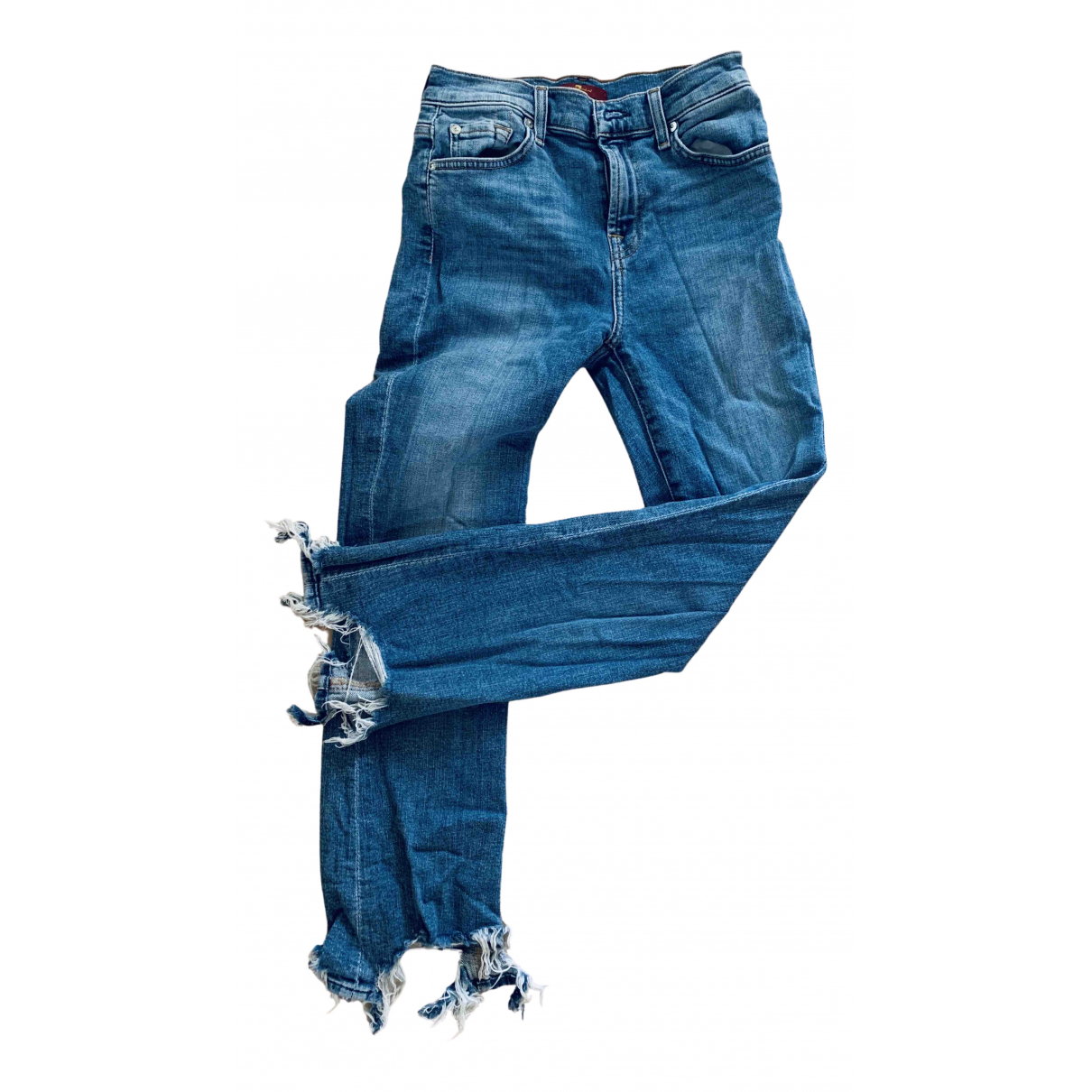 7 For All Mankind N Blue Denim - Jeans Jeans for Women 26 US