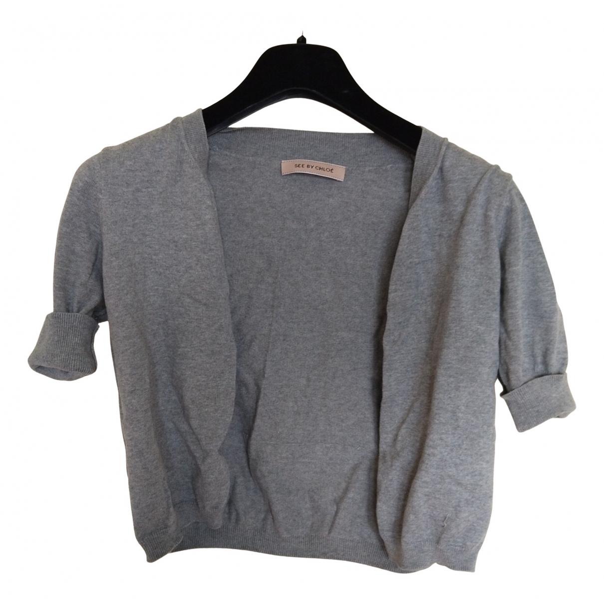 See By Chloe - Pull   pour femme en coton - gris