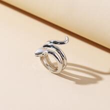 Maenner Ring mit Serpentin Design