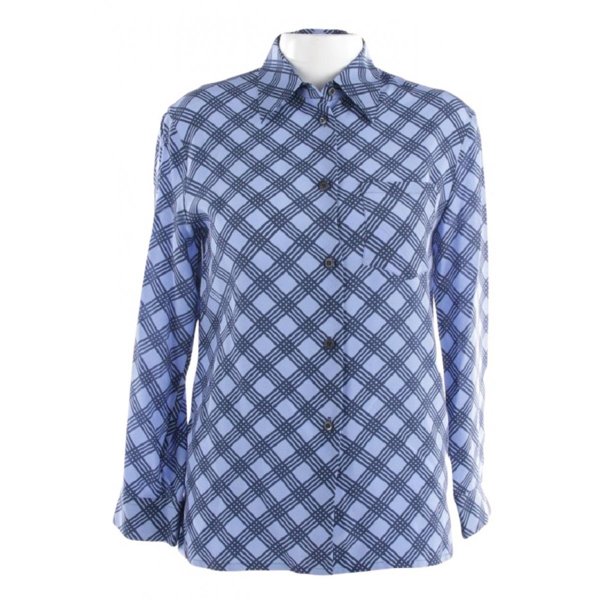 Prada N Blue Silk  top for Women 40 IT