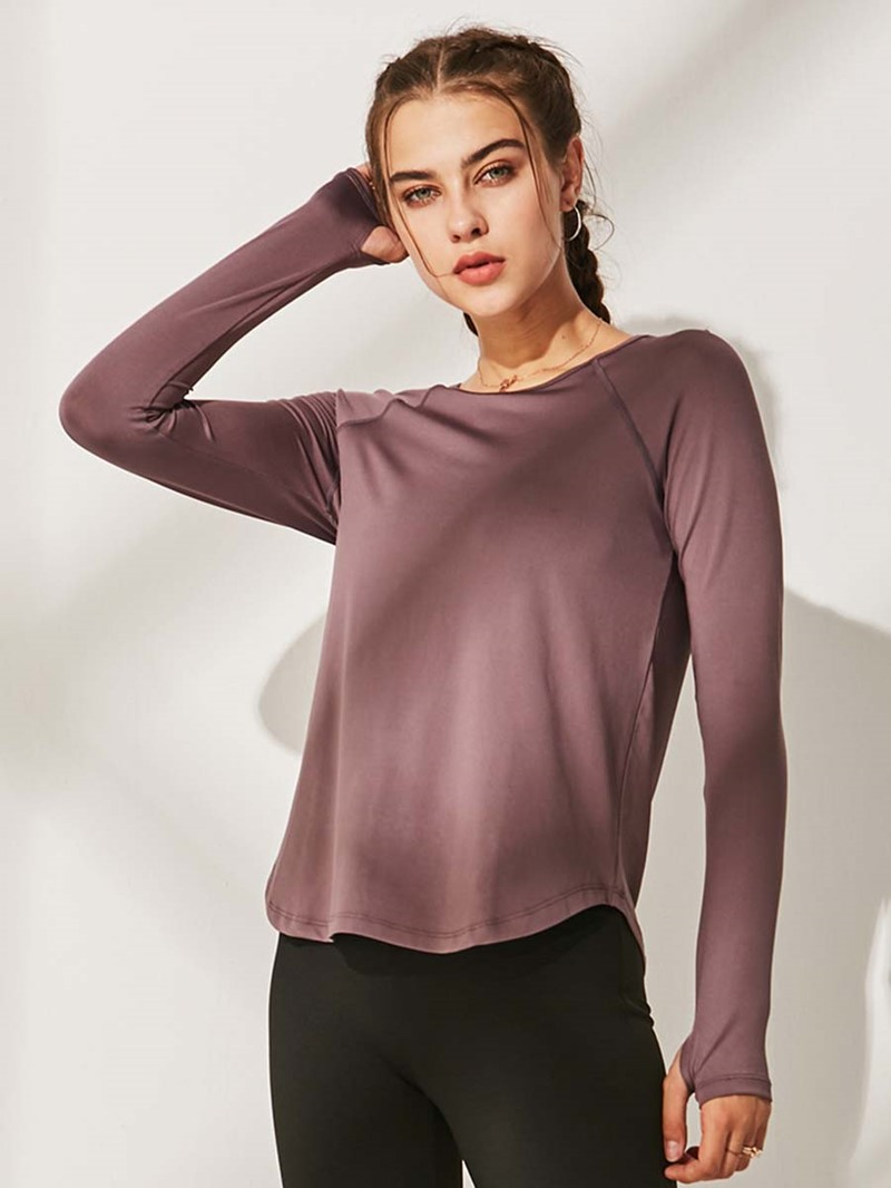 Ericdress Solid Quick Dry Long Sleeve Street Dance Tops