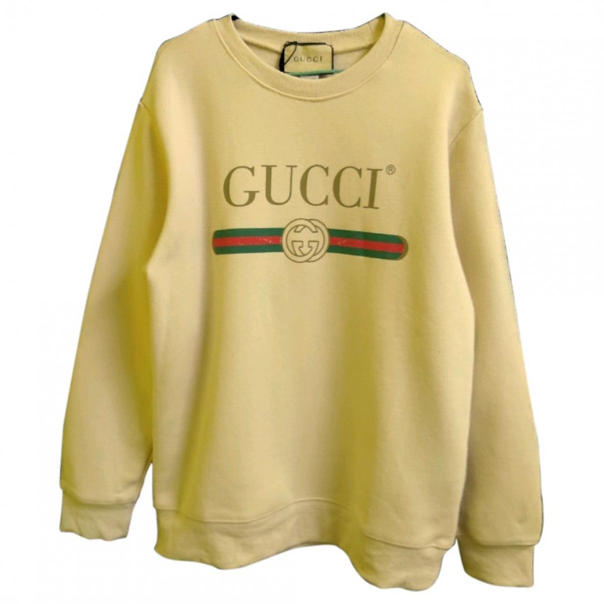 Gucci - Pulls.Gilets.Sweats   pour homme en coton - beige