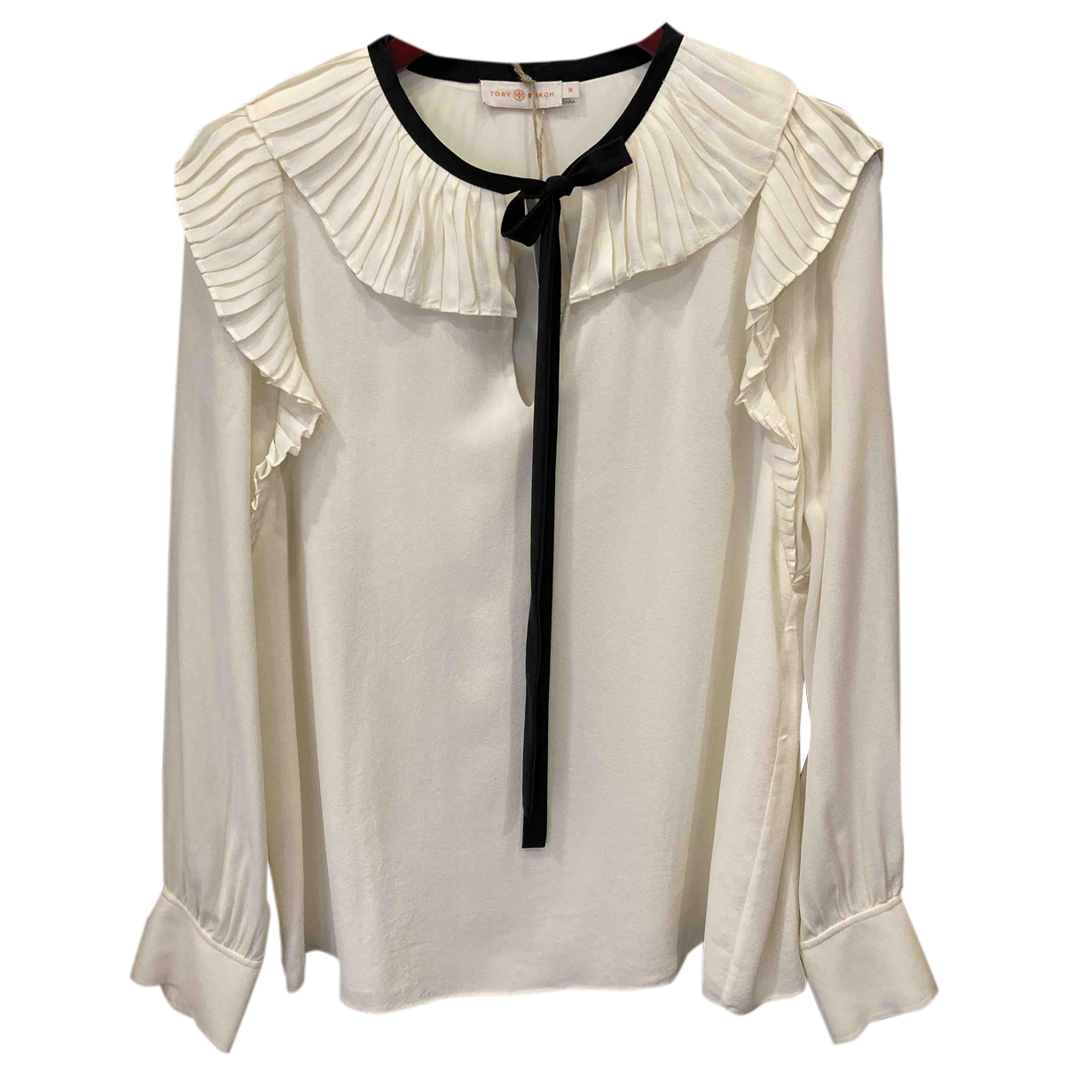 Tory Burch N Beige Silk  top for Women 10 US