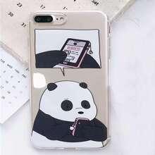 Cartoon Panda Print iPhone Case 1pc