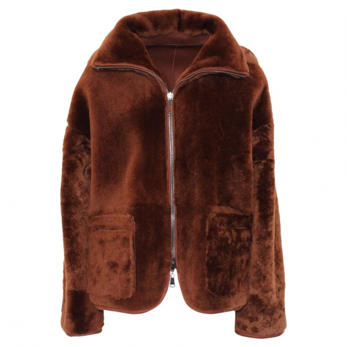 - Manteau   pour femme en mouton - marron