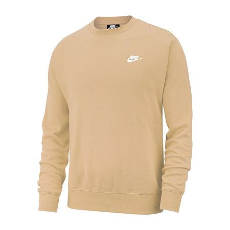 Nike Big and Tall Mens Crew Neck Long Sleeve Sweatshirt, 2x-large Tall , Brown
