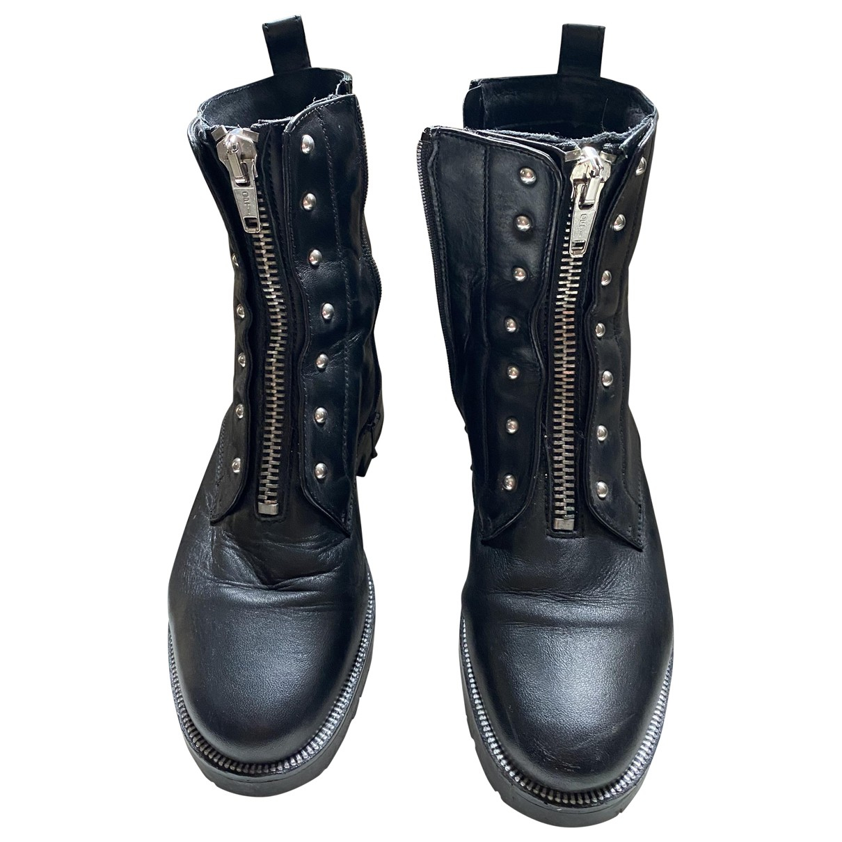 Non Signé / Unsigned \N Black Leather Boots for Women 36 EU