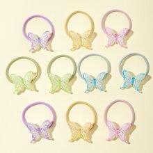 10 Stuecke Kleinkind Maedchen Haarband mit Schmetterling Dekor