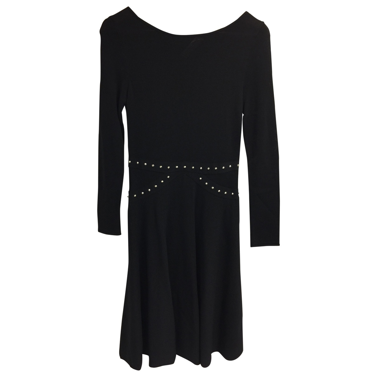 Saint Laurent \N Kleid in  Schwarz Baumwolle