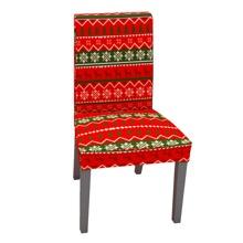 Dehnbarer Stuhlbezug mit Weihnachten Muster