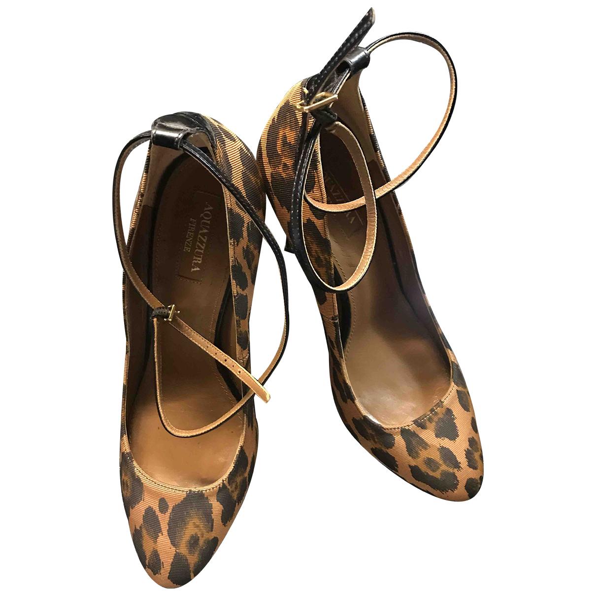 Aquazzura N Beige Cloth Heels for Women 38 EU