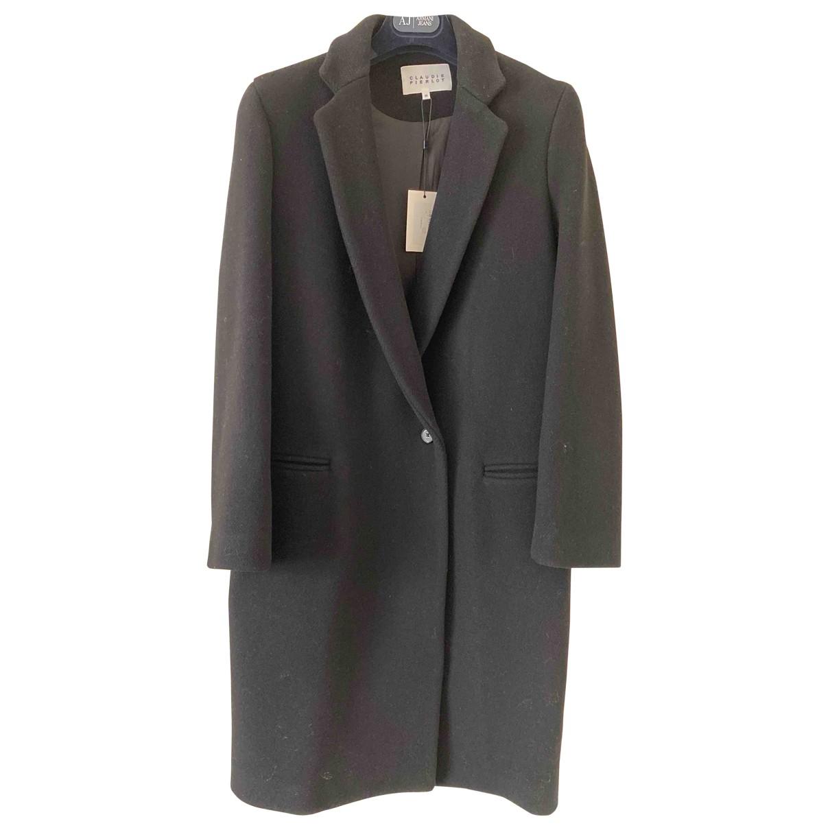 Claudie Pierlot \N Black Wool coat for Women 34 FR