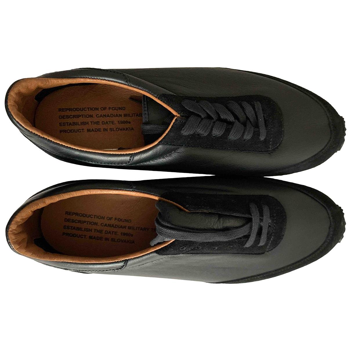 - Baskets   pour homme en cuir - noir