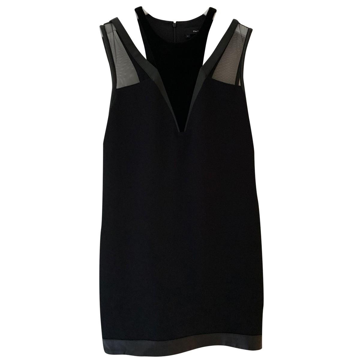 The Kooples \N Kleid in  Schwarz Veloursleder