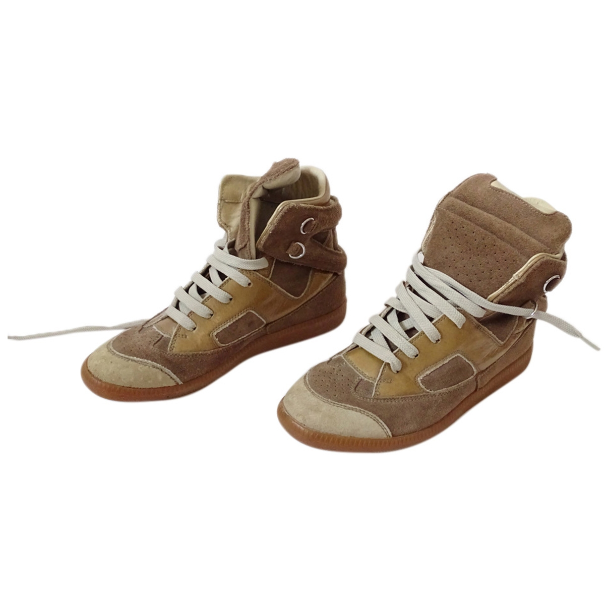 Maison Martin Margiela \N Camel Suede Trainers for Women 37 EU