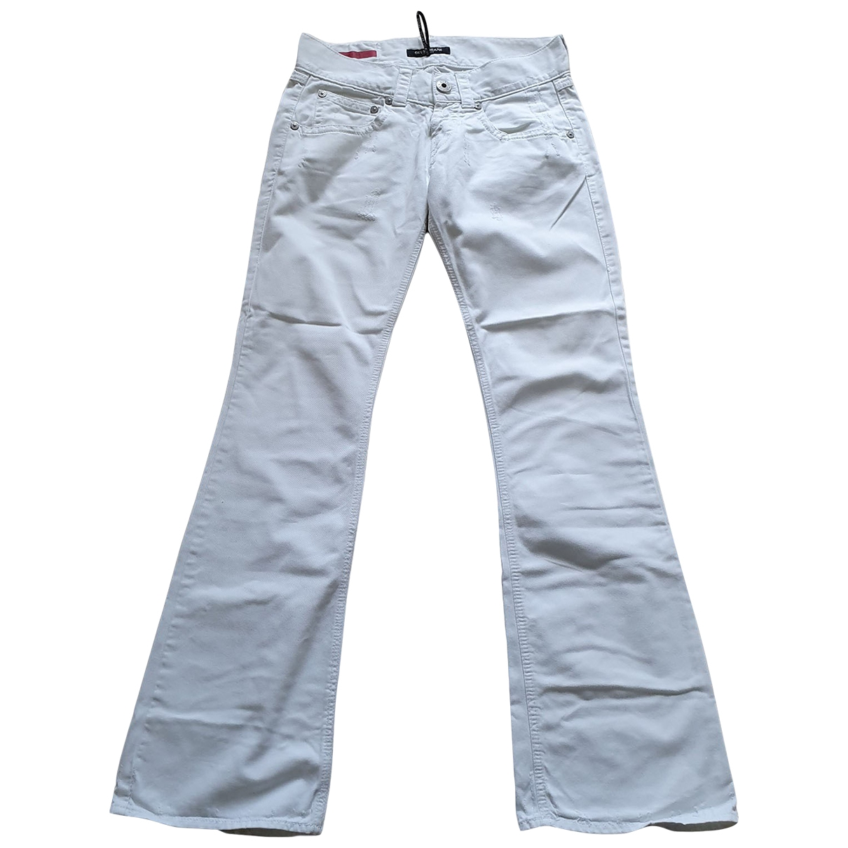 Guess \N White Denim - Jeans Trousers for Women 42 IT