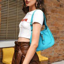 Baguette Tasche mit Horsebit Dekor