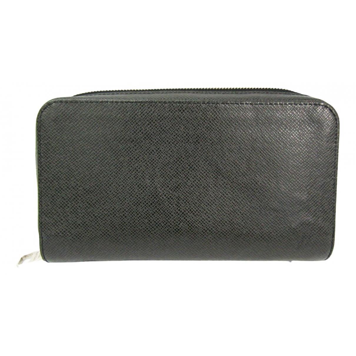 Louis Vuitton - Petite maroquinerie Zippy XL pour homme en cuir - anthracite