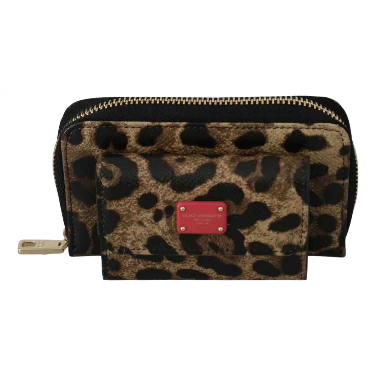 Dolce & Gabbana - Portefeuille   pour femme en toile - marron