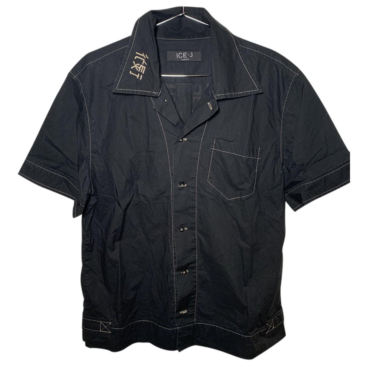 Iceberg N Black Cotton Shirts for Men L International
