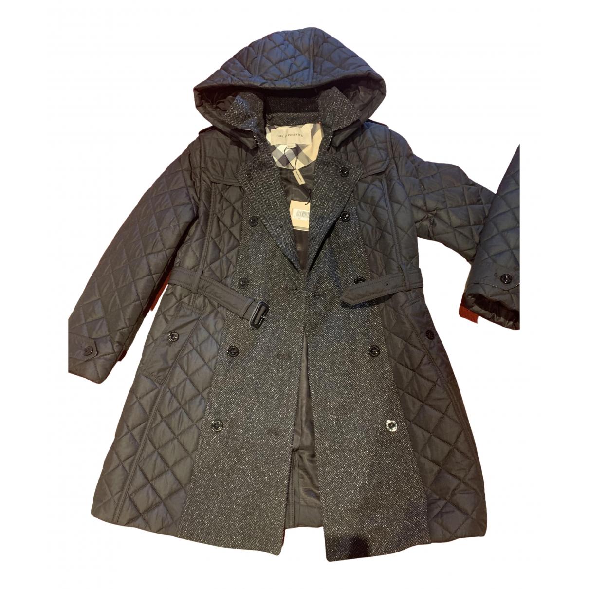 Burberry - Blousons.Manteaux   pour enfant en laine - noir