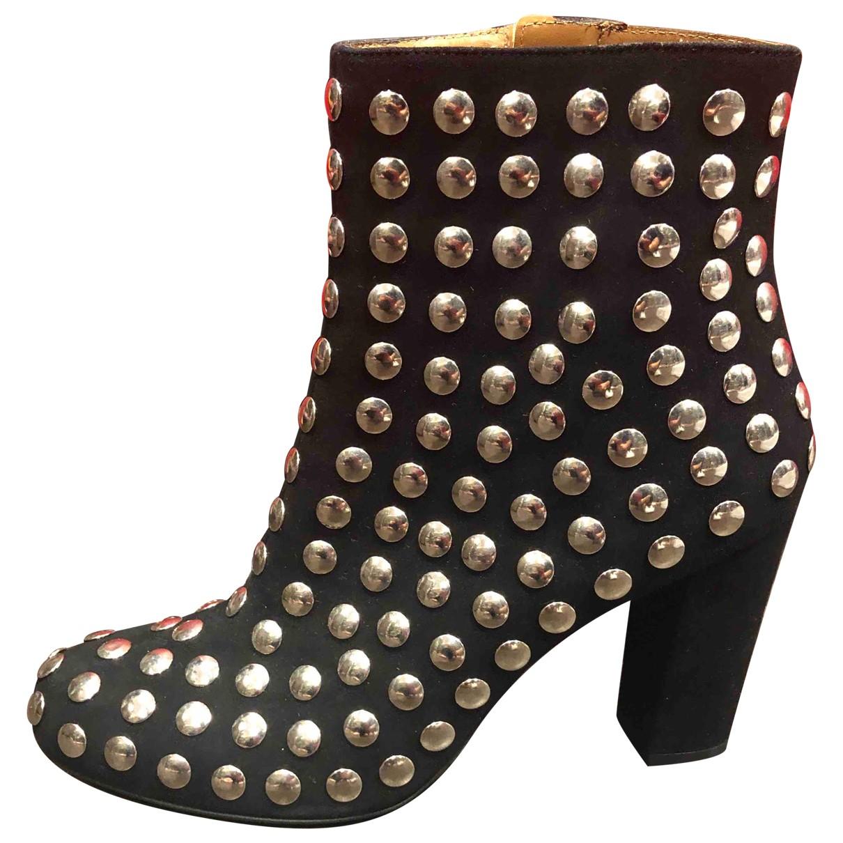 Iro - Boots   pour femme en suede - noir