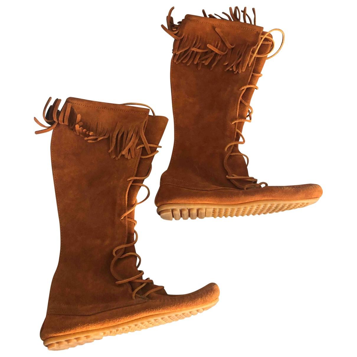 Minnetonka \N Brown Suede Boots for Women 41 IT