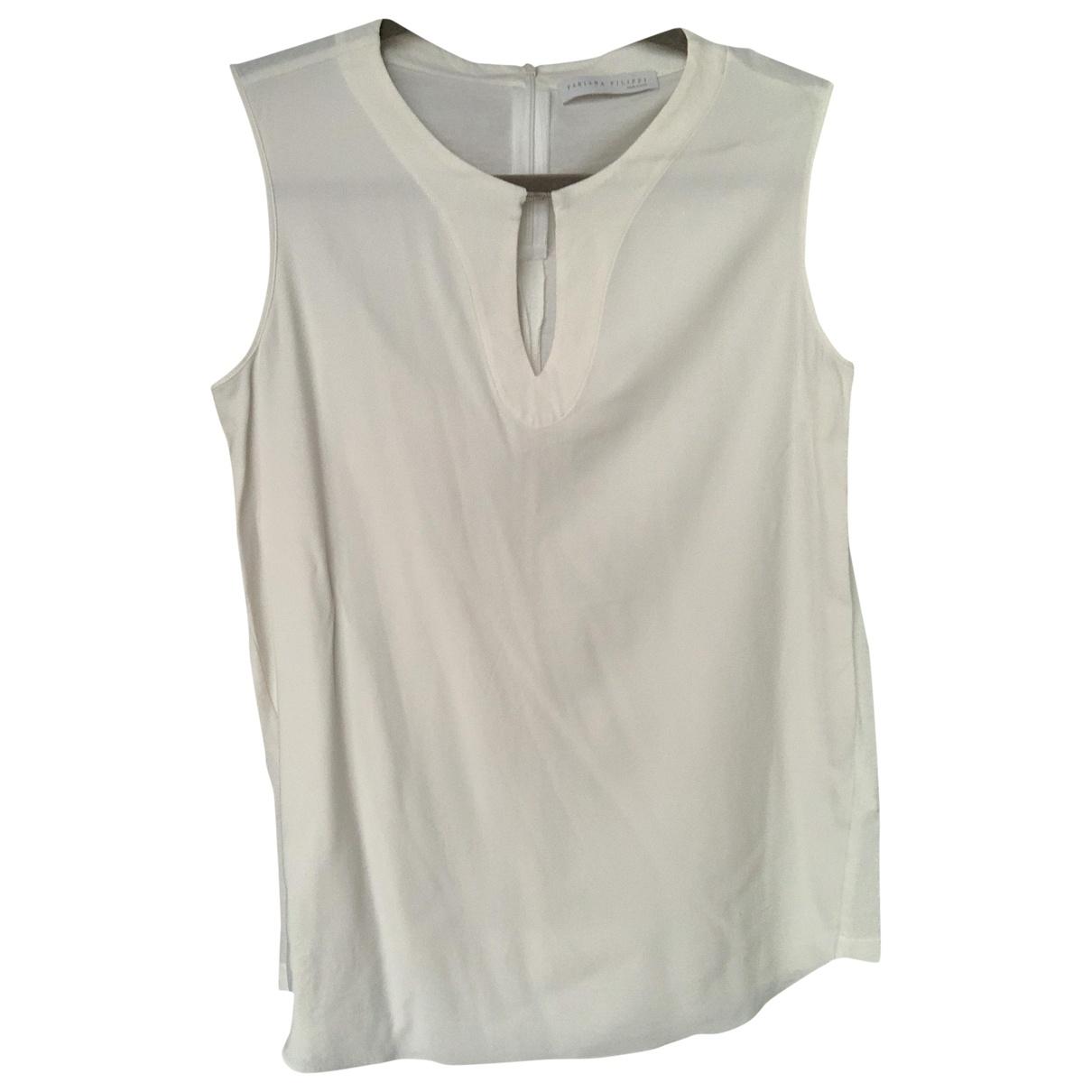 Fabiana Filippi - Top   pour femme en coton - blanc