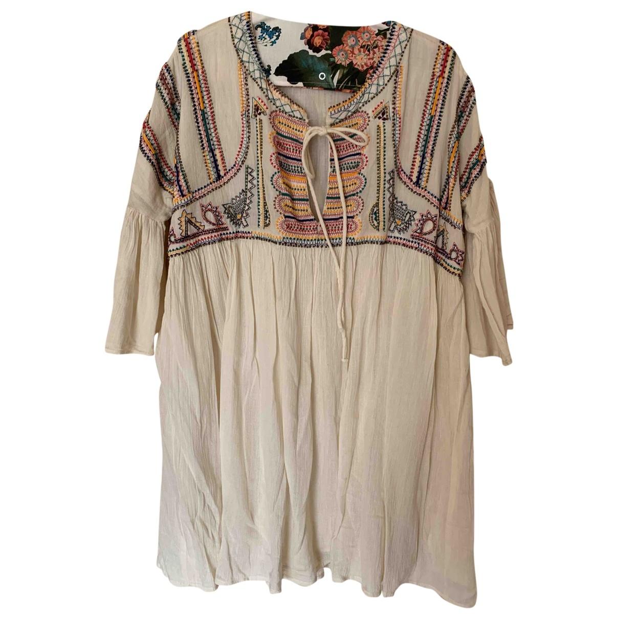 Zara \N Ecru Cotton dress for Women M International