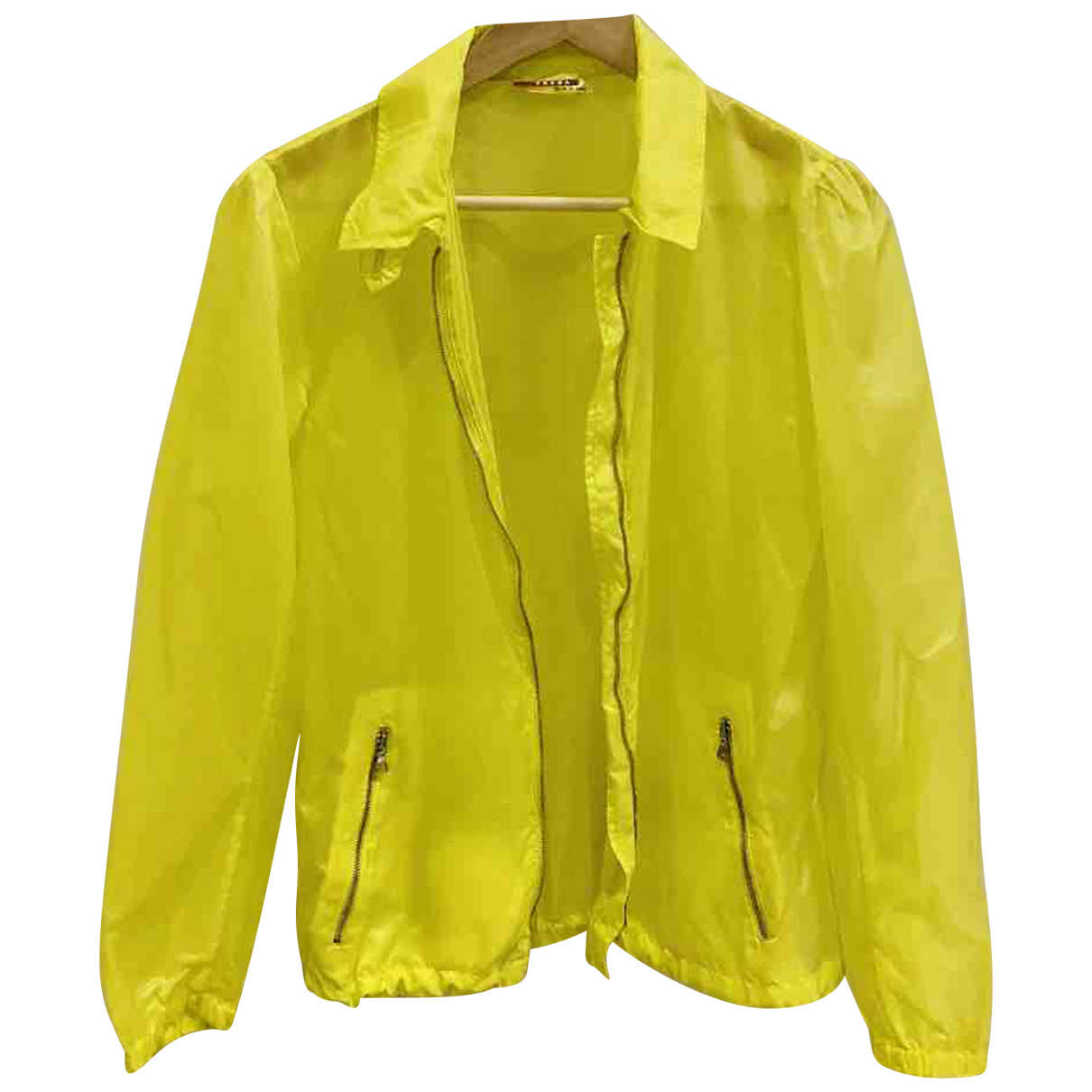 Prada \N Yellow jacket for Women 42 IT