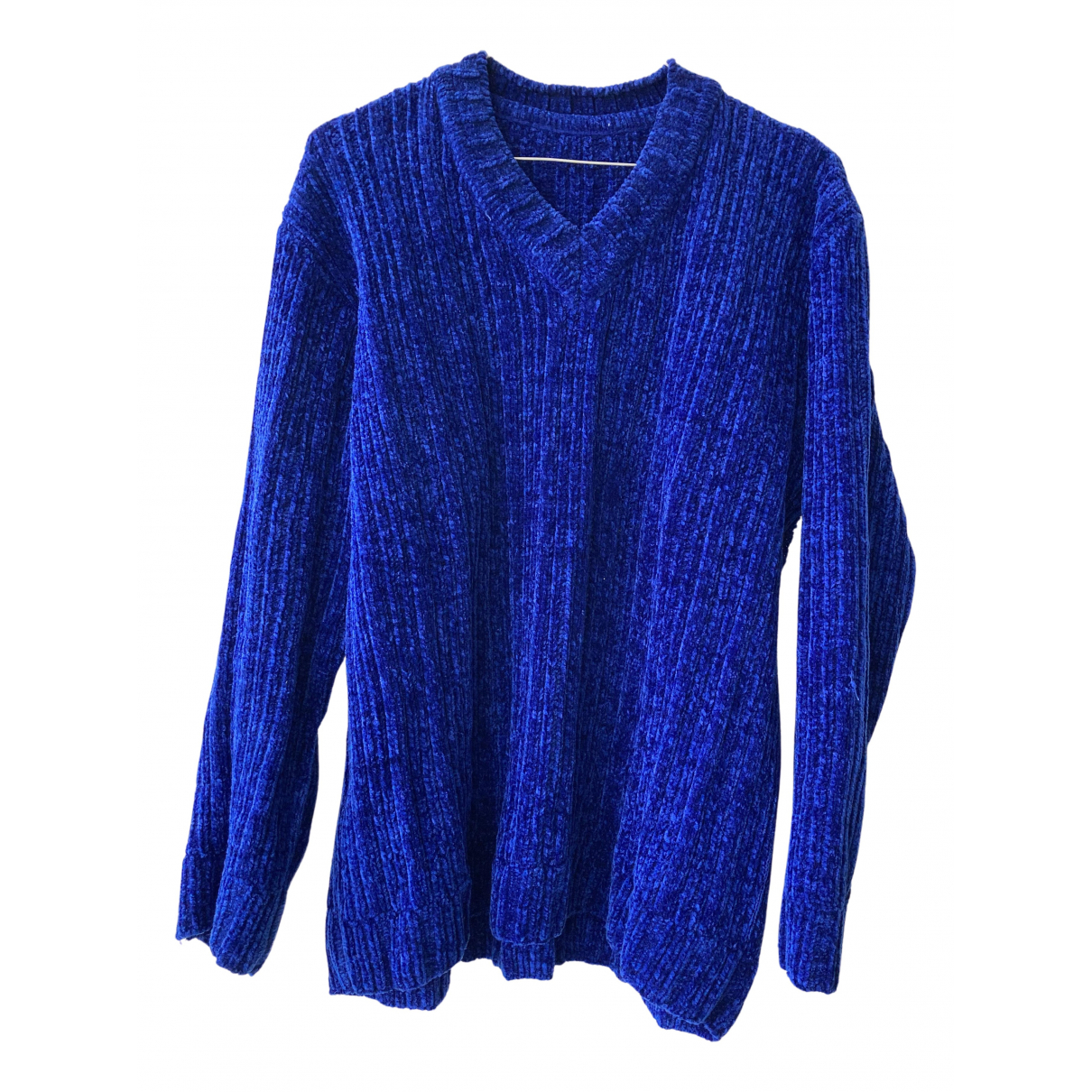 Non Signé / Unsigned Oversize Blue Knitwear for Women L International