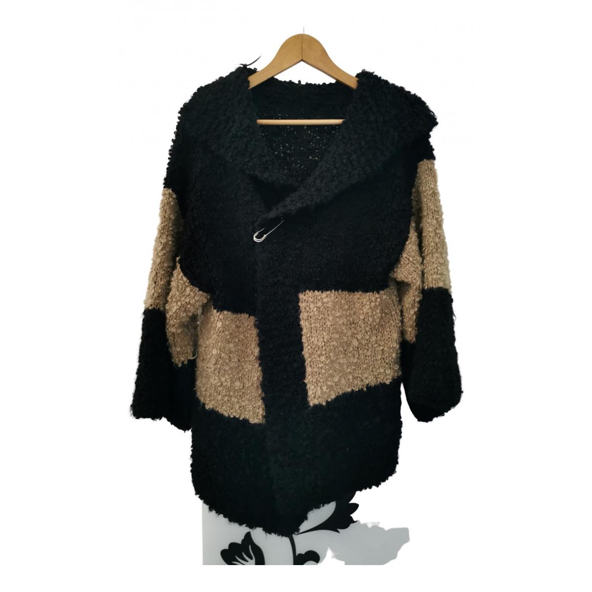 - Manteau Oversize pour femme en laine - noir