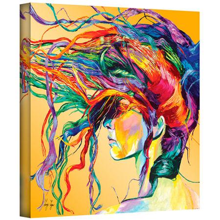 Brushstone Windswept Gallery Wrapped Canvas Wall Art, One Size , Orange