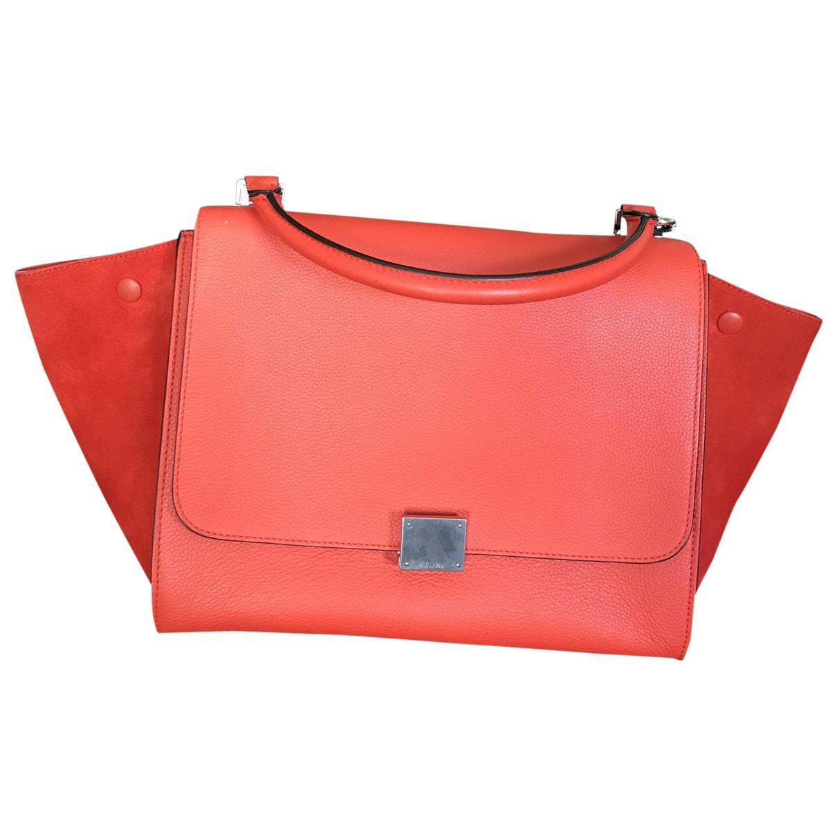 Celine Trapèze Red Cotton handbag for Women \N