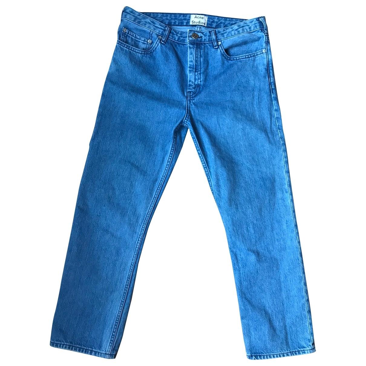 Acne Studios \N Blue Denim - Jeans Trousers for Women 34 FR