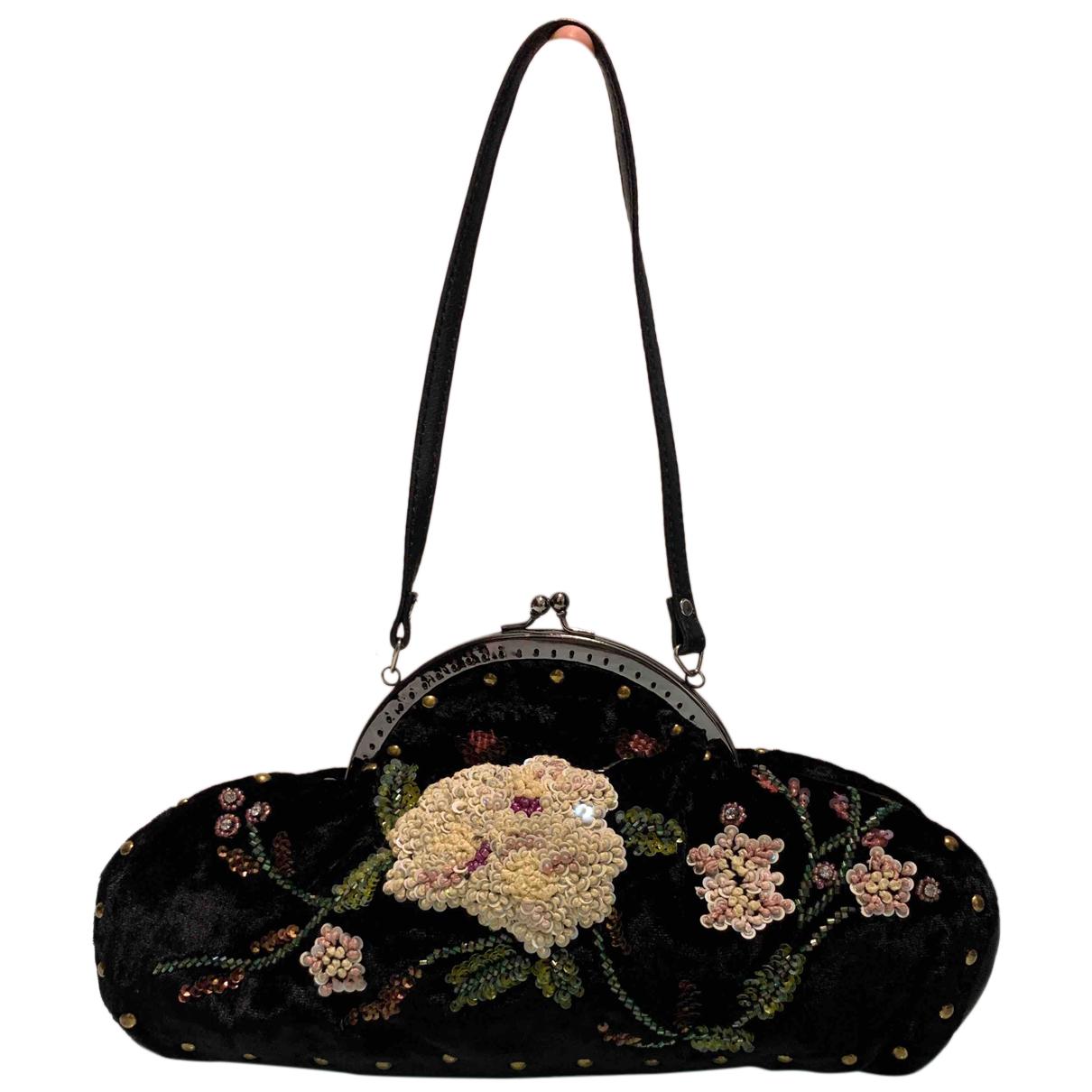 Pandora - Pochette   pour femme en velours - noir