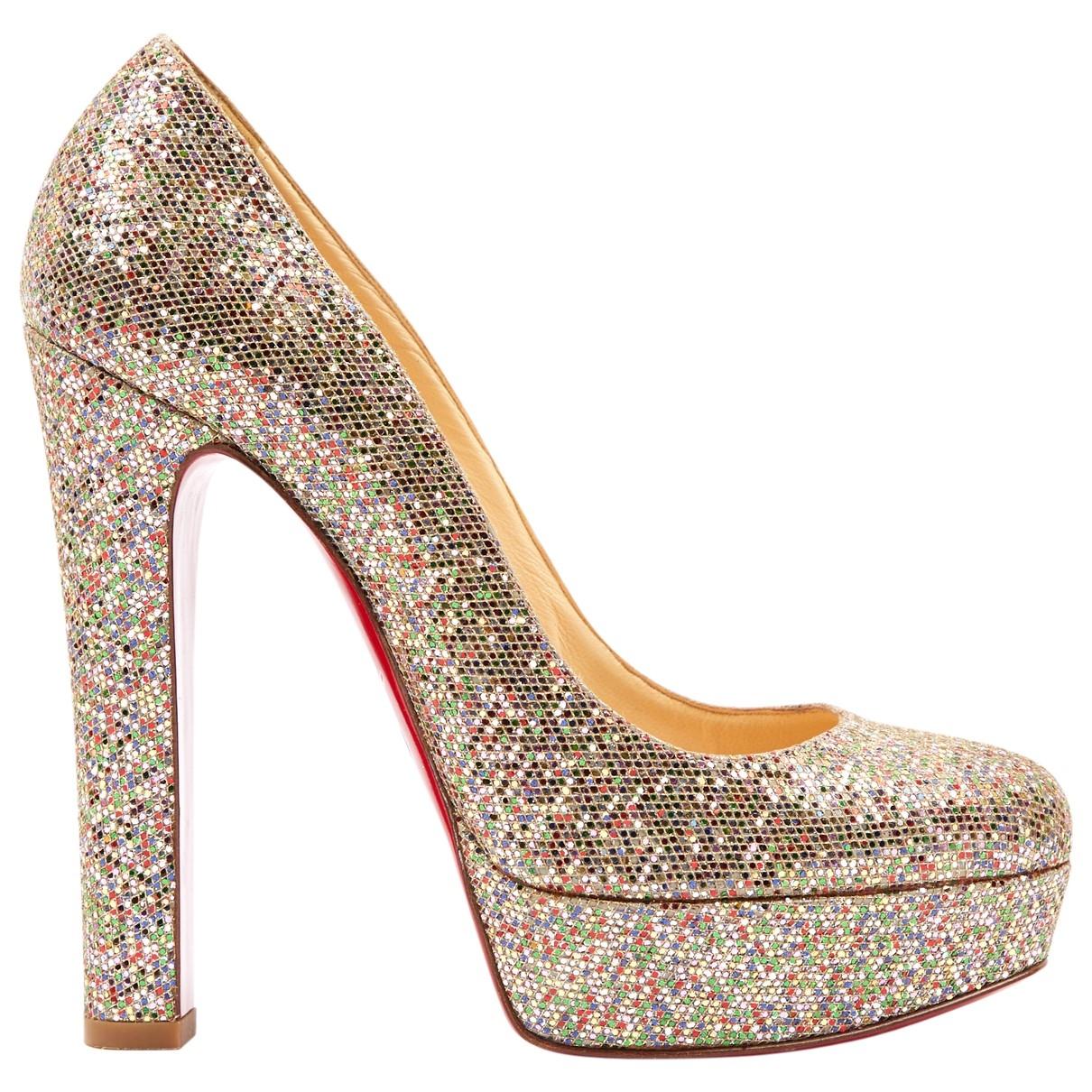 Christian Louboutin \N Multicolour Glitter Heels for Women 37 EU