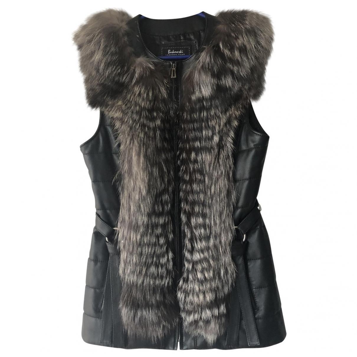 - Veste   pour femme en cuir - noir