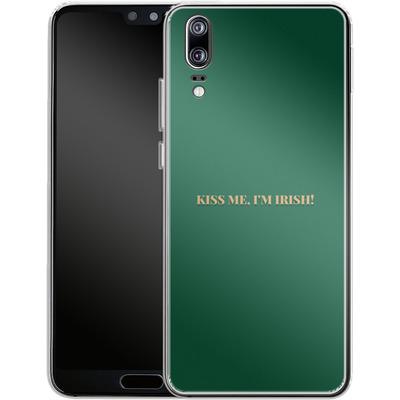 Huawei P20 Silikon Handyhuelle - Kiss Me Im Irish von caseable Designs