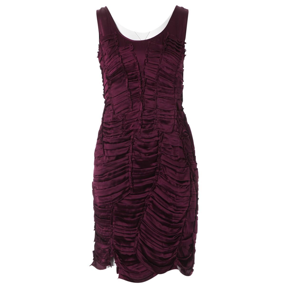 Burberry \N Kleid in  Lila Seide