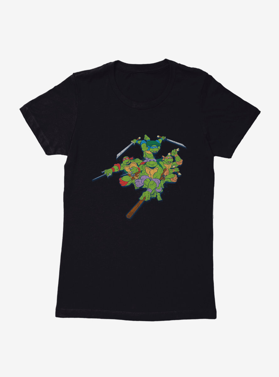 Teenage Mutant Ninja Turtles Jump Into Battle Womens T-Shirt