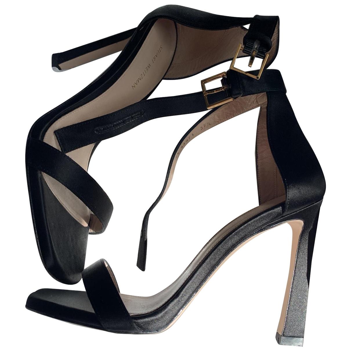 Stuart Weitzman \N Black Cloth Heels for Women 37.5 EU