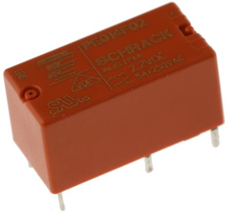 TE Connectivity SPDT PCB Mount Latching Relay - 5 A, 2.2V dc For Use In Power Applications