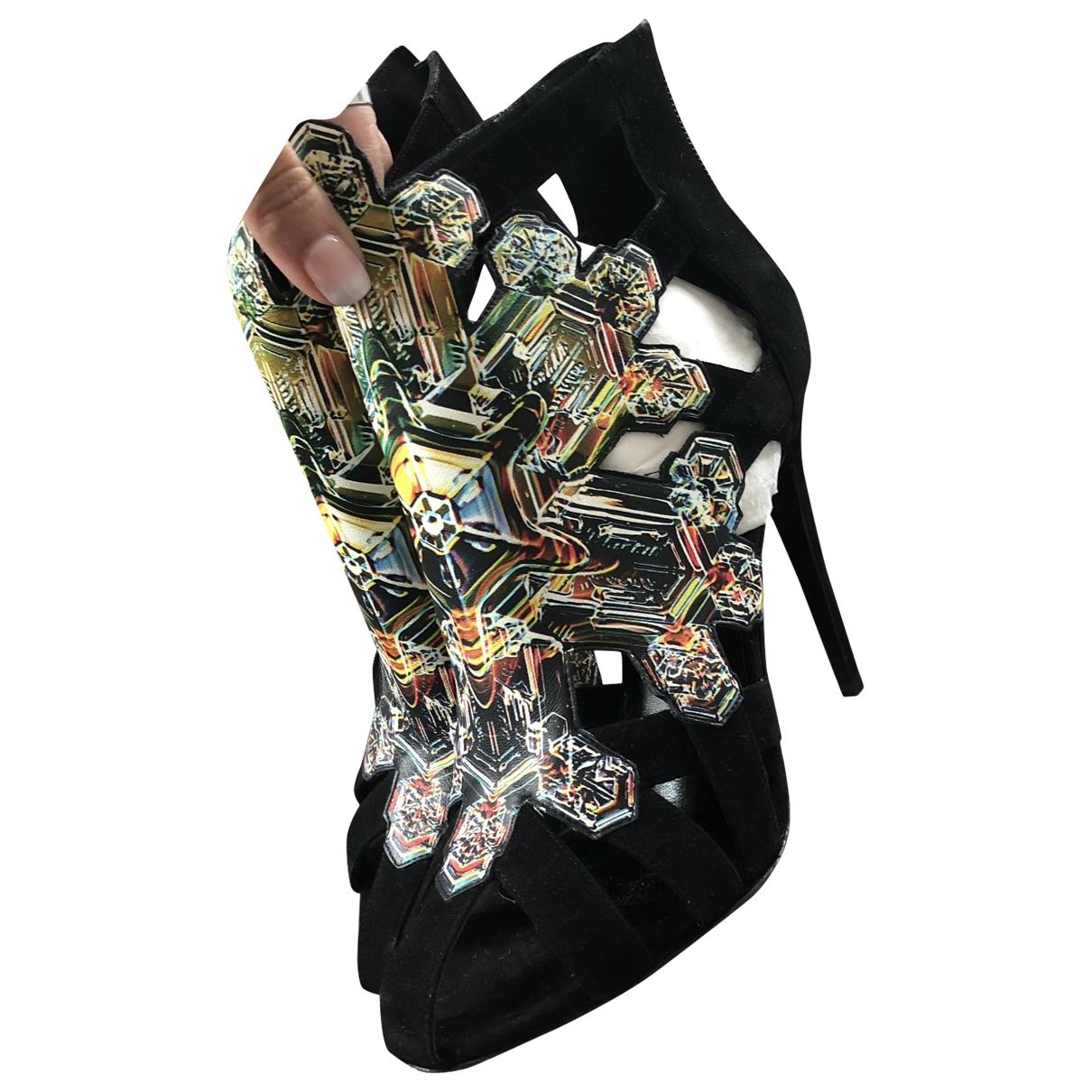 Pierre Hardy - Boots   pour femme en suede - noir